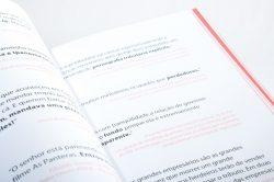Diagramação de livro.